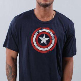 New Captain America vintage distress avengers Shield T shirt L
