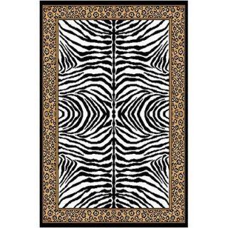 Home Dynamix Zone Ebony Zebra/Leopard Print Rug