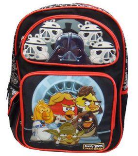 Angry Birds Star Wars Master Yoda Darth Vader Large Backpack Bag tote