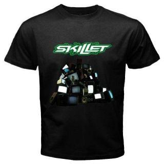 New SKILLET   Comatose Awake Alternative Rock Band Mens Black T Shirt