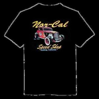 Black rat car hot rod CA Speed Shop drag racing race T shirt mens M L