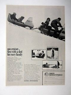 General Aluminum Products Sno Cruiser Snowmobile Tow Sled 1969 Ad
