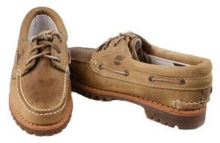 Timberland Noreen 3 EYE Womens Tan Leather Boat Shoes