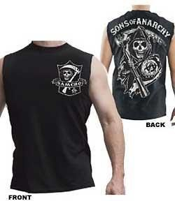 Sons Of Anarchy Samcro Reaper Shield Muscle New Licensed Tank Top