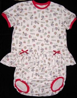 Adult Sissy Baby Romper Diaper Set Tea Party by Annemarie