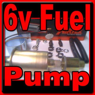 Primary or Support 6 volt Electric Fuel Pump for unleaded gas. Factory
