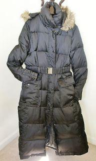 LAUNDRY by Shelly Segal Down Puffer Coat Full Length Black Sz. XL NWT