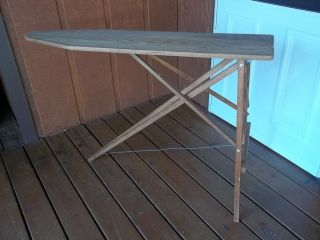 Vintage 21 Wooden Collapsible Tabletop Sleeve Ironing Board