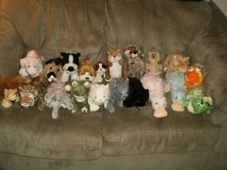 HUGE LOT Stuffed Plush 20 Webkinz Animals UNIQUE Dogs Cats Hedgehog