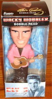 ELVIS PRESLEY WACKY WOBBLER BOBBLE HEAD NEW IN BOX FREE U.S.A