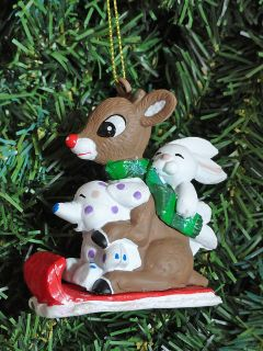 Rudolph Red Nosed Reindeer Sledding Misfit Toys Holiday Xmas Tree