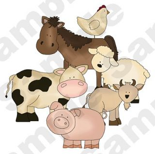 FARM BARNYARD ANIMAL COW HORSE BABY NURSERY CHILDRENS WALL MURAL