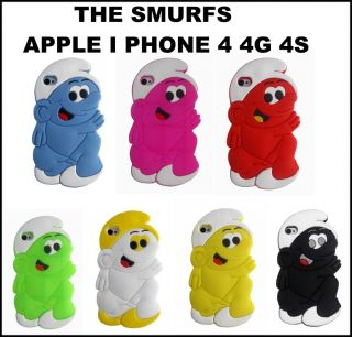 STYLISH THE SMURFS SOFT SILICONE CASE COVER FOR APPLE I PHONE 4 4G 4S