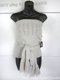 SEAN COMBS Knitted Angora Wool Tube Top Large Grey New With Tag