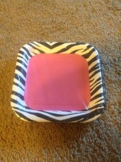 Newly listed Pink & Black Zebra Print Cake Plates (12 count)
