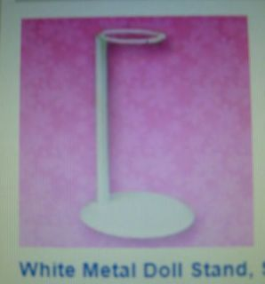White Metal Doll Stand Sized for American Girl and other 18 inch Dolls