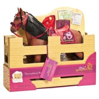 NEW OUR GENERATION THOROUGHBRED HORSE BROWN FITS BATTAT DOLL OR