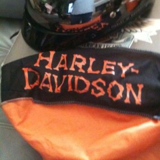 HARLEY DAVIDSON CHROME HALF SHELL HELMET W/ AUTHENTIC HARLEY DAVIDSON