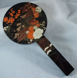 Antique, Gold, Tone, Hand, Mirror, Brush, Set, NR) in Hand Mirrors