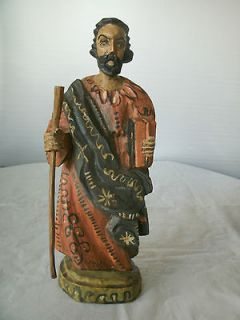 wood carved saint statue