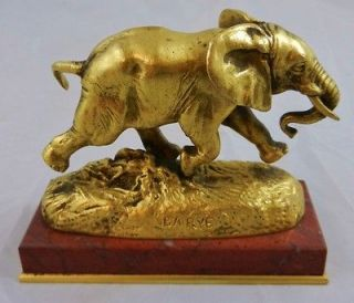 19th C French F. Barbedienne Dore Bronze Statue   Figure Elephant