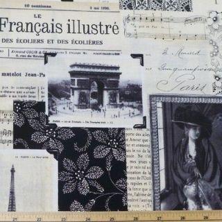 April In Paris Cotton Fabric Timeless Treasures