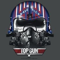 Licensed Top Gun Movie Maverick Helmet Tom Cruise Tee Shirt Adult
