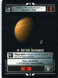 Star Trek CCG Blaze of Glory UnCommon; Batleth Tournament.
