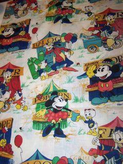 Vintage DISNEY MICKEY MOUSE Fabric DAFFY DUCK Curtain WINDOW PANEL