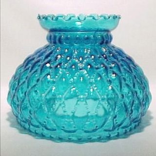 Diamond Beaded Quilt 7 in Oil Lamp Shade Quilted Student Desk Table