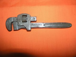 Antique Railroad Walworth Monkey Wrench Train Cast Iron AT & SF RR