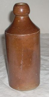 antique STONEWARE beer bottle