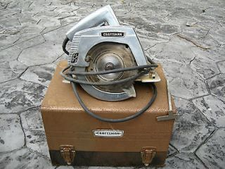 Circular Electric Hand Saw Carry Case Craftsman Vintage Tools