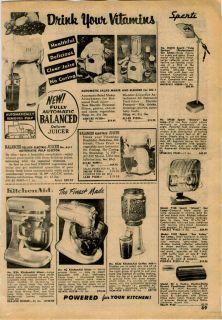 1962 63 AD KitchenAid Kitchen Aid Electric Food Mixer Coffee Mill