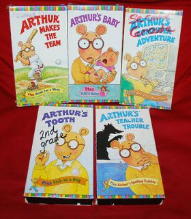 Vintage VHS Movie Kids LOT Arthur Videos Marc Brown Children Book