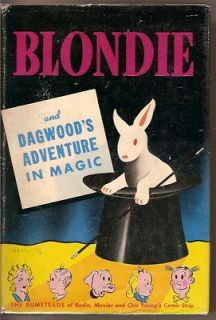 BLONDIE and DAGWOODS Adventure in Magic (1944 Whitman Hardcover in