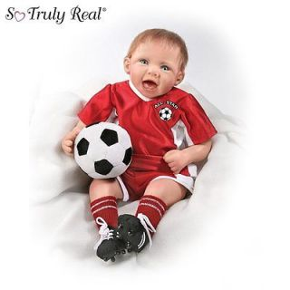 Ashton Drake All Star Soccer Champ So Truly Real Baby Boy Doll NIB