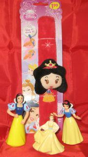 Piece set, Snow White, Disney, Slap Bracelet and 2 Snow White