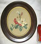 ANTIQUE FOIL PICTURE ANTIQUE WOOD FRAME GOD BLESS HOME