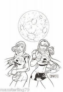 Ed Benes Supergirl Original Art Cover Commission