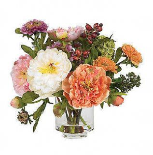 Silk Mixed Peony Artificial Flower Arrangement by Nearly Natural