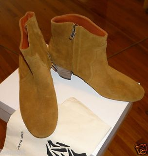 NEW IN BOX AUTHENTIC ISABEL MARANT DICKER BOOTS SHOES CAMEL 40