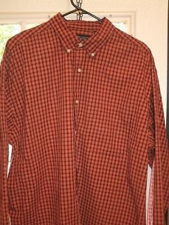 American Eagle Outfitters Plaid Red & Black Long Sleeve Shirt Men