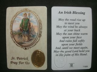 PRAYER VERSE CARD SAINT PATRICK, AN IRISH BLESSING RELIGIOUS