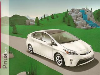 NEW 2012 Toyota PRIUS Brochure TWO/THREE/ 4 (solar roof vent) /FIVE