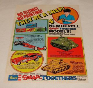 1975 REVELL Snap Togethers ad page~Mongoose Dragster