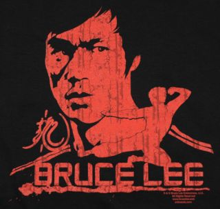 Bruce Lee Red T Shirt Black Martial Arts Yin Yang BABA