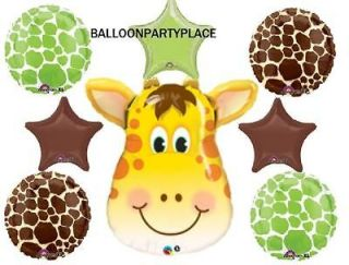 Jungle ZOO Safari LIME CHOCOLATE Star Baby Shower Party Mylar BALLOON