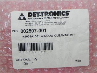 NEW DET TRONICS 002507 001 WINDOW CLEANING KIT K1002A1001