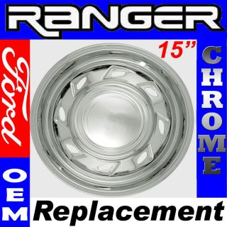 Wheel Skin 1 Piece 15 Inch Hub Caps CHROME 8 Spoke 5 Lugs Rim Cover